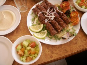 Delicious spread of Iraqi food (we were treated to these almost daily)