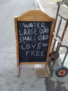 On the streets of Athens...love this message. :)