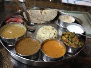 Our first thali plate at Navdanya. Fantastic!!