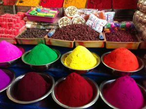 Tikka powders from the main market in Mysore, which we toured toward the end of our stay