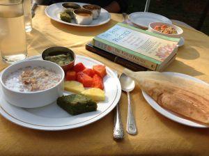 Breakfast on the restaurant patio