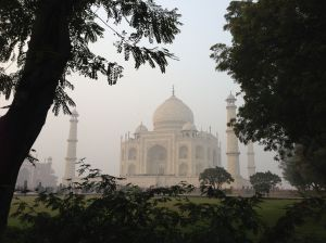 The Taj Mahal...she goes up top.